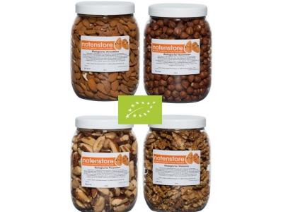 Voordeelpakket biologische noten 1 (amandelen, hazelnoten, paranoten en walnoten)