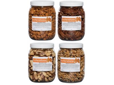 Voordeelpakket noten 2 (amandelen, pecannoten, paranoten en walnoten)